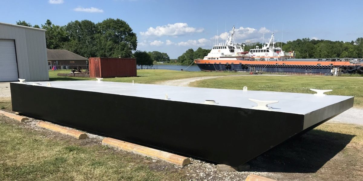 Truckable Barge 40'x12'x4′